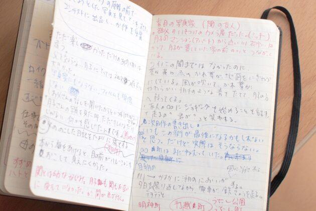 書き込んだMOLESKINEの手帳