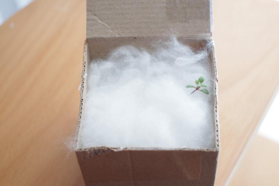 メルカリの綿梱包