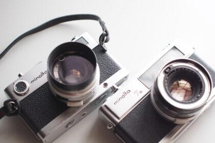 minoltaのフィルムカメラ